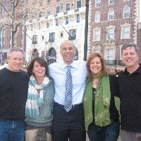 Films Without Footprints team on location with Cory Booker